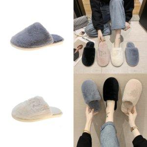 2OJAV Chinelos Faux Fur Sapatos Mulheres Casa Plana Bola de Pelúcia Casa Slipper Cute Plush Home Indo Chinelos Fashion Outdoor Verão Assoalho Mulheres