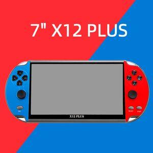 Yanwen Schiff 7inch X12 Plus Mini Retro Handheld-Spielkonsole-Player für NES FC Kids Portable Classic Game Controller Integrierte 16 GB ROM-Spiele