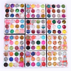 1 boîte carrelage irrégulier papier bricolage ongles flocons coloré paillettes ongles paillettes paillettes paillettes paillettes pvc manucure cellophane