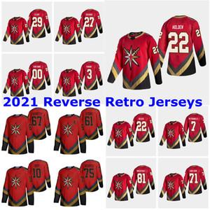 2021 Reverse Retro Vegas Golden Knights Jerseys 17 Forte Jersey Erik Haula Jonathan Marchessault Reilly Smith 23 Alec Martinez Personalizado