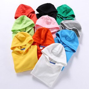 Newest Fashions INS Kids Girls Boys Plain Hoodies Fashion Pullover Stylish Quality Cotton Children Unisex Clothing Outwears Hooded Z2102