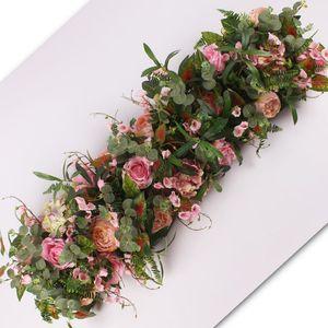 Wedding Simulation Flower Arrangement Rose Hydrangea Studio Photography Scene Background Wall Decoration