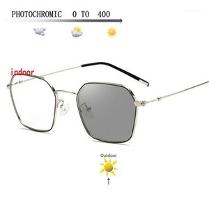 Sunglasses Frames Pochromic Finished Myopia Glasses Posensitive Chameleon Anti-glare Change Color Lens Prescription FML1