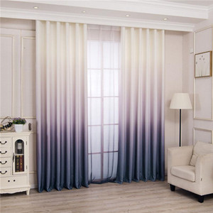 Modern 3d Printed Gradient Blackout Curtains Blinds Drapes Bedroom Window Curtains For Living Room Thick For Kitchen