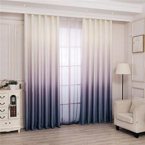 Moderno 3D impreso gradiente cortinas apagones cortinas persianas cortinas de la ventana de dormitorio para la sala de estar gruesa para la cocina