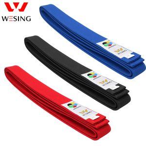 Wesing WKF Approved karate belt 100% cotton blue red black belt karate Q0108