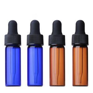 Amber Blue Clear Glass من الضروري النفط قطارة زجاجات 4ML مصغرة العين قطارة العطور مستحضرات التجميل حاويات عينة السائل