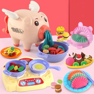 Colored Clay Pig Noodle Maker Flour Mud Plasticene Colored Clay Clay Children Play House Kitchen Toys Factory Direct Sales