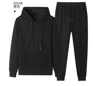 2021 New Autumn Hot Two Pieces Sets Tracksuit Men Sportswear Hoodies Sweatshirts GU50