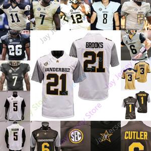 2020 مخصص فاندربيلت كومودورز كرة القدم جيرسي كلية NCAA 87 ماثيوز 74 كريس ويليامز 2 Deuce Wallace 21 Keyon Brooks 32 Sarah Fuller