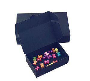 24pcs / lot noire carton kraft papier onglet -lock box blanche cadeau cadeau de mariage boîte boîte de bonbons de mariage boîte bloqueur faves box de savon eea21