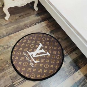 2020 New letters round mat 60cm carpet living room bedroom door mat kitchen thick anti-skid bath mat