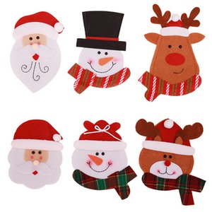 Christmas Decorations Snowman Kitchen Tableware Holder bag Party gift Xmas ornament Christmas decorations for home table new