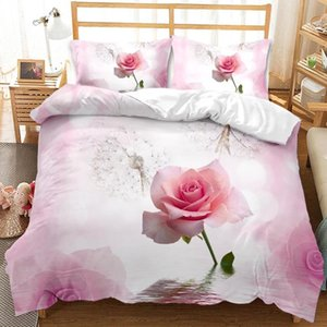 Floral Bedding Set 3D Flowers Printed Polyester queen king Duvet Cover with Pillow Bedding Sets