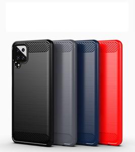 Текстура углеродного волокна Тонкие доспехи, щеткой корпус TPU для Samsung Galaxy A51 5G UW F41 A42 100 шт. / Лот