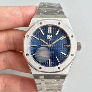 Venda quente mens relógio automático movimento mecânico safira vidro azul mostrador transparente traseira de aço inoxidável homens relógios
