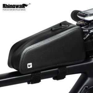 Rhinowalk MTB Bicycle Front Frame Bags Waterproof Cycling Tube Bag Large Capacity Road Bike Pannier Phone Case Black RK18330 201116