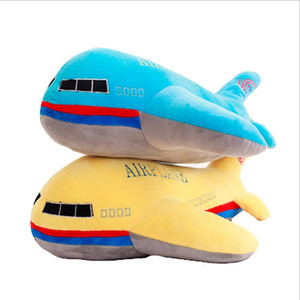 New 40cm 50cm 60cm Large Size Simulation Airplane Plush Toys Kids Sleeping Back Cushion Soft Aircraft Stuffed Pillow Dolls Gift LJ201126