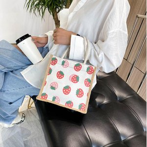 Wholesale women single shoulder bag Canvas cotton and linen cloth bag cartoon lovely eco friendly shopping bag student like tote bags