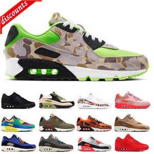 Cheap Green Camo Hombres Running Zapatillas Juego Royal Infrared Rain Forest Medium Olive Olive Premium CNY Womens Venta Caliente Plaza de entrenadores al aire libre 36-45