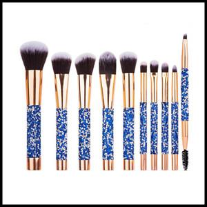 10Pcs Set Diamond Makeup Brushes Kit Women Make Up Tool Blending Contour Foundation eyeshadow Brush with Cosmetic Bag