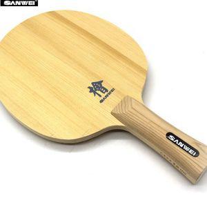 SANWEI H10 Hinoki table tennis blade FL handle CS handle 10mm thickness one ply Hinoki ping pong bat Z1120