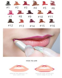 NO LOGO!hot Sale16 Colors Matte Lip Liner Long Lasting Pigments Eyebrow Pencil Eyeliner Waterproof Lipstick Pen Makeup Tool Accept You Logo