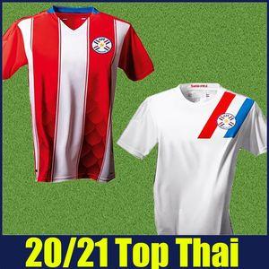 2020 2021 Paraguay Soccer Jerseys National Team Uniforms Accueil A.Romero F.Balbuena M.Malmon Football Jerseys Camiseta de Paraguay 20/21
