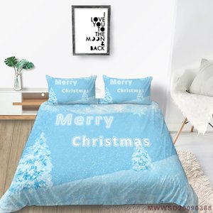 Merry Christmas Bedding Set High End Home Decoration 3D Duvet Cover King Queen Twin Double Full Single Double Bed Set Pillowcase