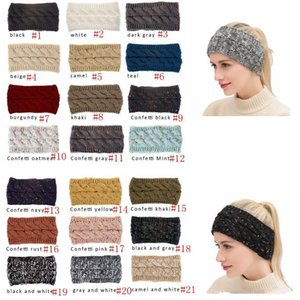 CC Hairband Colorful Knitted Crochet Twist Headband Winter Ear Warmer Elastic Hair Band Wide Hair Accessories DHL Shipping