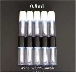 Yüksek Kalite 30 adet 0.8ml Plastik Dudak Parlatıcı Tüp Sızdırmaz İç Örnek Kozmetik Conta Qyldvs Ile Küçük Ruj Tüpü
