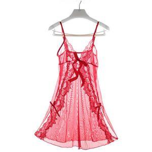 Sexy lingerie Trasparente trasparente Esotico Nightwear Mesh Prospettiva Strap regolabile Pigiama Pigiama per le donne Intimates Biancheria intima Panty Thong