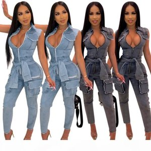 women sleeveless jumpsuit sexy rompers elegant fashion skinny jumpsuit pullover comfortable clubwear solid color hot klw1885
