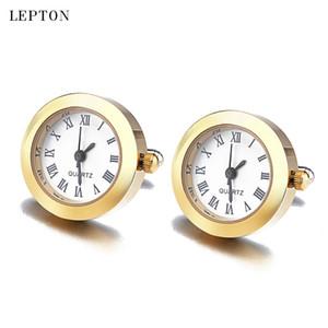 Heißer Verkauf Batterie Digitaluhr Manschettenknöpfe für Männer Lepton Echte Uhr Manschettenknöpfe Uhr Manschettenknöpfe für Herren Schmuck Relojes Gemelos 201124