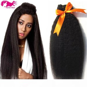 free shipping 7A grade 8-28inch kinky straight hair weft coarse yaki italian yaki natural color peruvian virgin human hair weaves