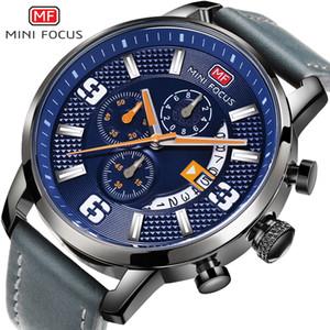 Mini foco moda hombre reloj reloj de pulsera lujoso deporte reloj de cuarzo hombres impermeable cuero correa relojes niño relogio masculino