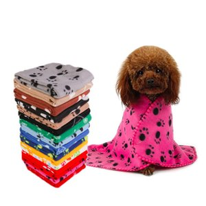 Pet dog cat blanket cushion Dog paw star print blankets Dog bath cushion home pet products 24colors WY1042