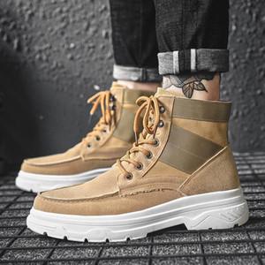 Autumn Winter Men Boots Shoes Men Cusaul Botas De Hombre High Top Shoes Warm Comfortable Footwear Fashion Martin Boots