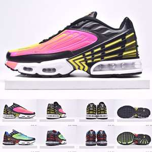 TN plus se 3 mens running shoes women 3 Tuned triple black white hyper Blue Purple Teal Twist trainers men sports sneaker outdoor