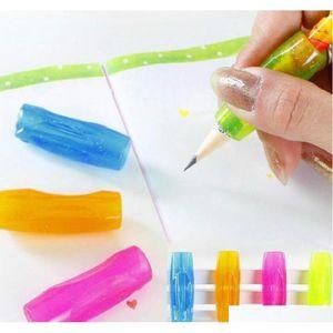 wholesale-4pcs soft rubber grip pen orthotics topper pencil grip practice calligraphy tools DvEIz