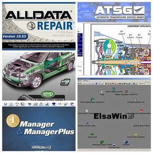 2021 Высококачественные Alldata 10.53 и OD5 программного обеспечения Autodata 3.38 + Все данные + MIT..ell на de..nd 2015 + Elsawin + Vivid + ATSG 24 в 1TB HDD USB3.0