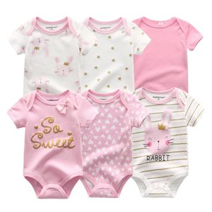 Newest 6PCS lot Baby Girl Clothe Roupa de bebes Baby Boy Clothes Unicorn Baby Clothing Sets Rompers Newborn Cotton 0-12M 201201