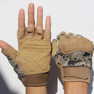Luxury-Army Military Tactical Half finger Bicycle Camouflage Men Women Sports Climbing Fitness Driving Gloves Special Forces A15