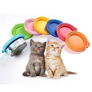 Los alimentos para mascotas pueden cubrir las tapas de las latas de silicona universal para los latas de alimentos para gatos para perros se adapta a la mayoría de los bips de tamaño estándar JK2012XB Free