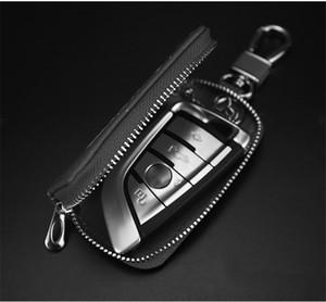 2020 new fashion keychain metal buckle leather ofe keychain change car remote control box change keychain