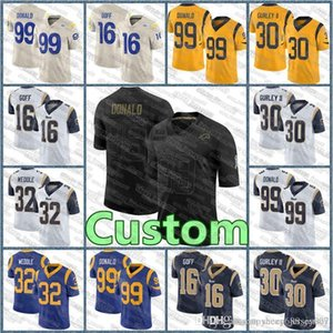 custom 99 Aaron Donald jersey 10 Cooper Kupp 20 Jalen Ramsey Los Angeles