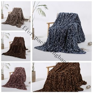 Blankets Winter Warm Blanket Pink Brown Khaki Leopard Printing plush baby women Blanket Chair Sofa Home Decor Y-1