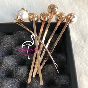 Clips de couleur en métal en métal de fête pour la fête de la fête C marques Pearl Hairclips Classic Pearl 8,5cm Longueur Longueur Elegance Pin avec des cartes