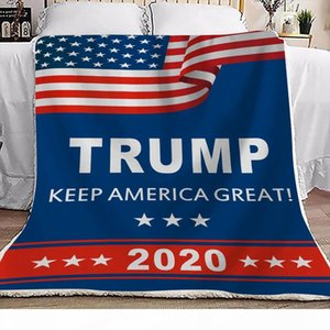Trump Blanket 130*150cm 150*200cm Kids Adults Throw Blankets 3D Printed Plush Cover Sherpa Fleece Soft Office Blankets LJJO7354