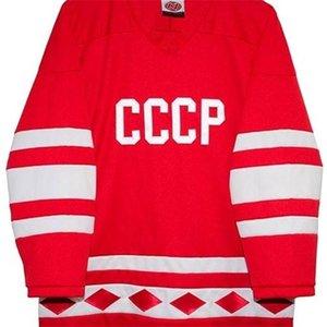 Gerçek 421 Gerçek Tam Nakış Rusça 1980 CCCP Hokey Hokey Jersey 100% Nakış Forması veya Özel Herhangi Bir Ad veya Numara Forması
